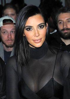 Kim Kardashian short hair. Alexander Wang NYFW