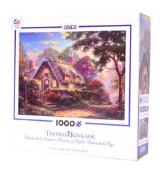 Lovelight Cottage by Thomas Kinkade - 1000 Piece Puzzle. $12.