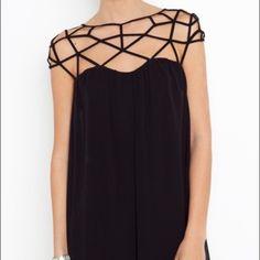Black cage dress Size xs! Never worn dress! ROMWE Dresses Mini