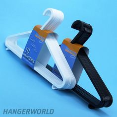 Plastic Coat Hangers With Trouser Bar - 36cm
