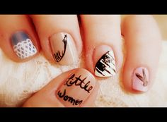 Day 5 of the Girly-Girl challenge , Gotta love Chick Flicks: Truth be told this was the first design I did, I was so excited for this day I. Vintage Nails, Chick Flicks, One Design, Girly Girl, You Nailed It, My Nails, Love, Tattoos, Day