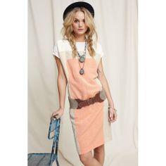 Sommerlich leichtes Kleidchen von CINQUE mit linearer Farbanordnung in sanfter Tricoloroptik. #fashion #impressionen