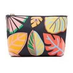 aff0a35304d7 Tory Burch Leaf Applique Large Trapeze Cosmetic Bag 39% off retail