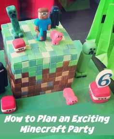 Minecraft birthday party ideas for invitations, party decorations, favors and even cool cake and sweets table options. Minecraft Birthday Party, Birthday Fun, Birthday Celebration, Birthday Party Themes, Birthday Ideas, Birthday Cake, Popular Birthdays, Kid Party Favors, Time To Celebrate