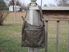 Concealed Carry Leather Handbag Purse