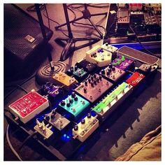 Nightbulb's pedal board.