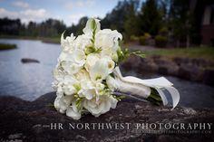 Bouquet on rocks at Echo Falls in Snohomish, Washington