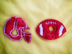 Football and Helmet Shape Set CUSTOMIZED by aHaDesigns2 on Etsy, $5.00