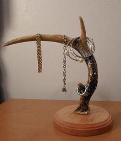 Unique Antler Jewelry Stand by Createacraftbychriss on Etsy, $40.00