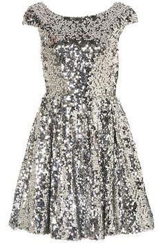 #dress #dresses #fashion #style #silver #sparkle #sequin