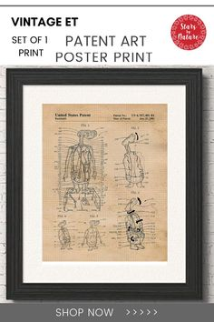Vintage ET patent artwork reinterpreted to capture the spirit of innovation, creativity, and hand crafted to infuse the classic, vintage feel and personal touch by our award winning artist in North Carolina. #ET #vintageETposter Poster Wall, Poster Prints, Fun Conversation Starters, Vintage Medical, Gifts Under 10, Star Art, Wall Art Decor, Room Decor, Nature Prints