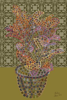 Andrea Mora title: Croton No. 6 (2014) original size: 80 x 120 cm digital painting - See more at: http://www.andreamora.de/still.html#sthash.C1VCA1fH.dpuf