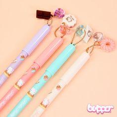 Hello Kitty Ink Pen with Dessert Decoration