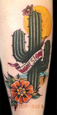 Homesick Cactus tattoo by Jake B