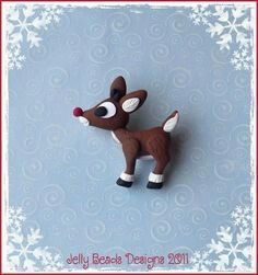 Rudolph the Red Nose Reindeer - Polymer Clay