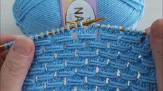 Easy Knitting, Knitting Stitches, Knit Patterns, Straw Bag, Blanket, Youtube, Knitting Patterns, Belle, Dots