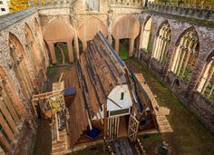 #HTE   theaster gates embeds performance space within bombed church ruins in bristol from now until november 21 20