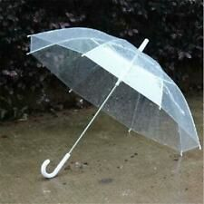 8174d15408a24 Wedding Ladies Clear Dome See Through Umbrella Handle Trnsparent Walking  Brolly Transparent Umbrella, Clear Umbrella