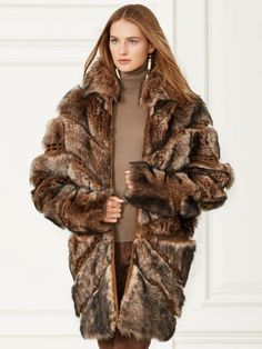 Kayla Shearling Coat - Collection Apparel Outerwear - RalphLauren.com