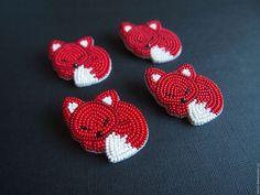 """Купить Брошь """"Лисичка"""" - ярко-красный, рыжий, лиса, брошь, авторская работа, ручная работа"""