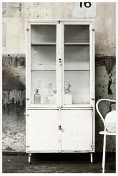 Old pharmacists cabinet