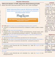 Test att köra #plagiatkontroll med #Plagscan: http://www.plagscan.com/plagiatcheck/search.php? Verktyget #copyscape: http://copyscape.com/ finns också. Mer om plagiatkontroll på #Wikipedia: https://sv.wikipedia.org/wiki/Plagiatkontroll