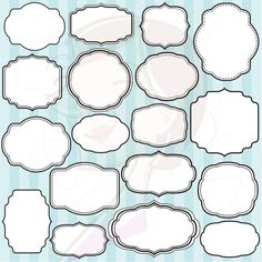 Decorative Text Box Borders Doodle Digital Frames Borders Tags Clip Art Clipart Doodle