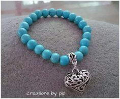 Check out this item in my Etsy shop https://www.etsy.com/listing/225649967/turquoise-blue-howlite-antique-silver