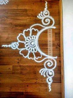 Rangoli … More Simple Rangoli Border Designs, Rangoli Simple, Rangoli Designs Latest, Rangoli Designs Flower, Rangoli Borders, Free Hand Rangoli Design, Small Rangoli Design, Rangoli Patterns, Rangoli Ideas