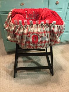 Ohio State Plaid Shopping Cart Cover by TWINSANDQUINN on Etsy