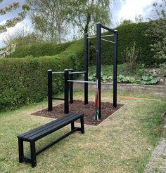 Home Made Gym, Diy Home Gym, Outdoor Gym, Outdoor Workouts, Crossfit Home Gym, Calisthenics Gym, Backyard Jungle Gym, Outdoor Fitness Equipment, Home Gym Design