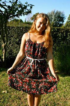 DIY Dress From Thrift Store Skirt