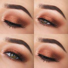 Rose Gold Eye Makeup Tutorial