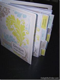 Delightful Order: Organizing My Recipe Inspiration
