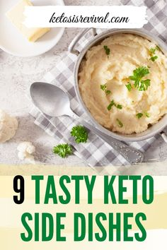 Are you looking for the perfect side dish to compliment your keto meal? Here are some low-carb, high in healthy fats, and great-tasting side dishes for you to indulge in. Catch the recipes on this pin! Beef Recipes, Low Carb Recipes, Snack Recipes, Cooking Recipes, Healthy Recipes, Side Dishes For Chicken, Creamy Garlic Chicken, Low Carb Side Dishes, Dinner Dishes