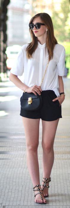 Black And White Casual Outfit by Vogue Haus