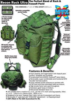 Backpacking, Camping, Assault Pack, Military Gear, Bug Out Bag, Bushcraft, Frames, Alice, Survival