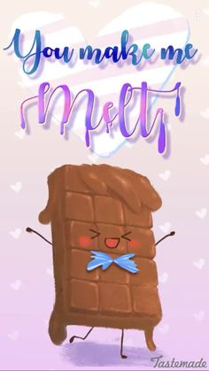 You melt my heart! Funny Food Memes, Funny Puns, Food Humor, Funny Stuff, Cute Food Quotes, Cute Food Art, Food Qoutes, Adorable Quotes, Love Puns
