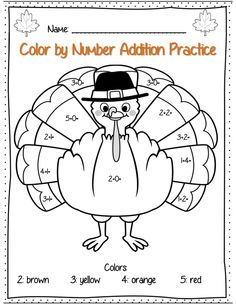 Color By Number Codes: Addition ~ Halloween Puzzles | Maths ...