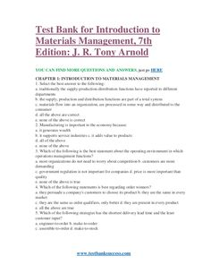 Test bank for introduction to materials management 7th edition testbanksuccess test bank for introduction to materials management 7th edition fandeluxe Choice Image
