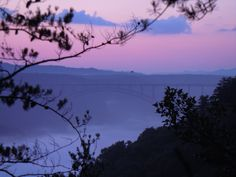 Sunset on the Endless Wall Trail, New River Gorge, WV