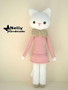#haken, gratis patroon (Engels), Ravelry, amigurumi, kat, poes, knuffel, haakpatroon, #crochet, free pattern, cat, stuffed toy