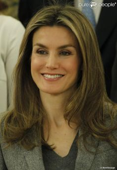 Princess Letizia of Spain attends several audiences at Zarzuela Palace  in Madrid, Spain