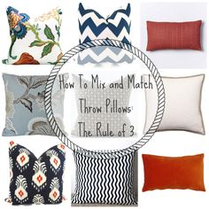 Ever wondered how to choose pillows that actually go together? http://returntohomeinteriors.com/?p=4160 #decor #pillows
