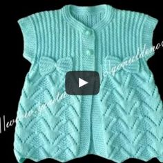 Bebek yeleğinin her aşamasını anlatan 2 video yayınlıyorum. Özellikle ör… I'm publishing two videos about each stage of the baby vest. Baby Cardigan Knitting Pattern, Knitted Baby Cardigan, Knitted Baby Clothes, Baby Knitting Patterns, Knitting Designs, Baby Patterns, Crochet Patterns, Diy Crafts Dress, Diy Dress