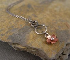 Cherry Blossom Infinity Necklace