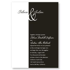 Trendsetting Wedding Invitations by TheAmericanWedding.com
