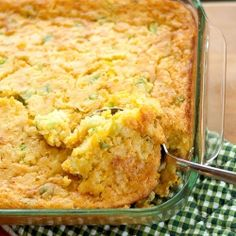 Corn Casserole - A delicious and easy one bowl side dish. Perfect for your next cookout!