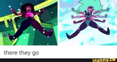 """""""This is alexandrite, back together and we're never going down at the hands of you""""(points at Malachite)"""