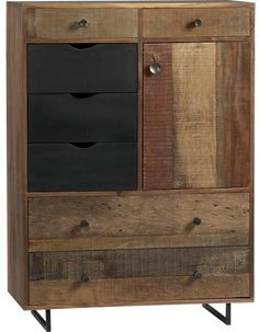 atwood tall chest- crate and barrel (bedroom) Tall Chest, Decor, Crate And Barrel, Furniture, Wood Chest, Traditional Drawers, Dressers And Chests, Crates, Rustic Materials